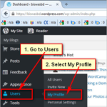 Edit your own profile information on WordPress